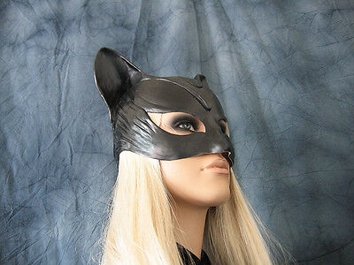CATWOMAN HOOD MASK - Female Latex Ear Maske Batman Katze Halloween Haube Kitty 5