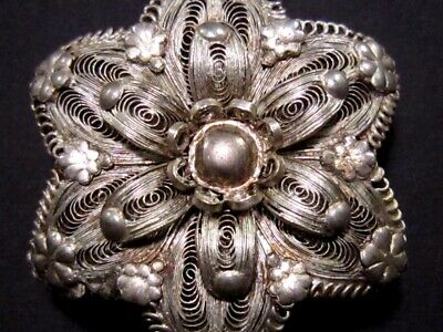 Vintage Silver Filigree Master Piece Large Medallion-Pendant!!! 7