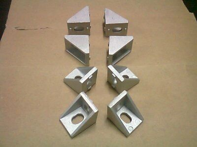 8-set Aluminum T-slot 20x20 profile 90 deg small corner connector bracket