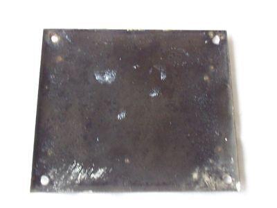 Antique German Porcelain House Number Plaque Enamel Steel Metal Sign 37 2