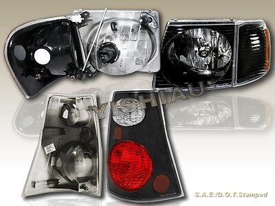 01 05 Ford Explorer Sport Trac Headlights Blk Corner Black Tail Lights 02 03