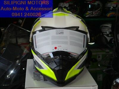 XS Casco integrale cross con visiera CGM 606G FORWARD Giallo fluo