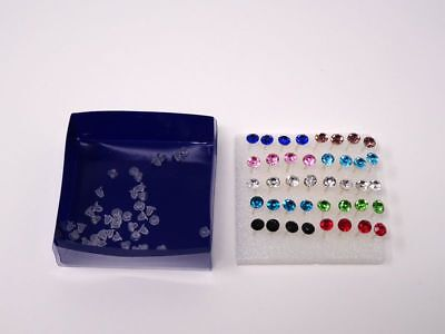 Wholesale A Set Of 20 Pairs Clear Crystal Ear Studs Earrings Allergy Free UK 2