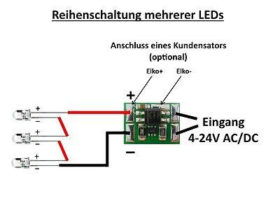 5 Stück Miniatur Konstantstromquelle 30mA für LEDs 4 bis 24V DC Mini KSQ1