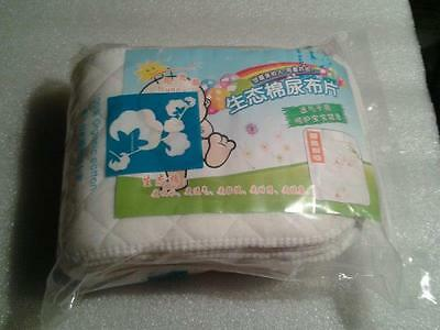 10X Washable inserts Baby Diapers 100% Cotton Cloth Diaper Layer Insert liner 3
