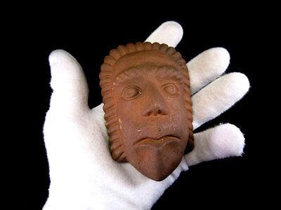 Beautiful Terracotta Post Mortem Mask Of A Roman Patrician, Replica!!! 7