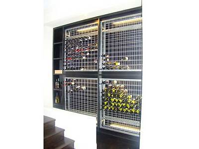 Galvanised Steel Metal Wine Storage Rack 216 Bottles