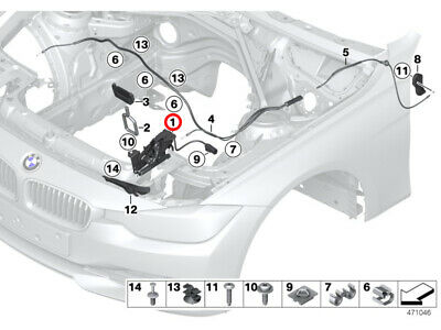 JS BMW X5 X6 Series F15 M F85 F16 M F86 Latch Bonnet Hood With Switch Right