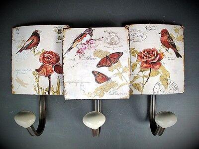 Garderobe Vogel Motiv 3er Vintage Ästhetik Hängeaufbewahrung Wand Türgarderoben 2