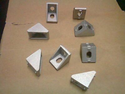 Aluminum T-slot 20x20 profile 90 deg small corner connector bracket, 8-set 3