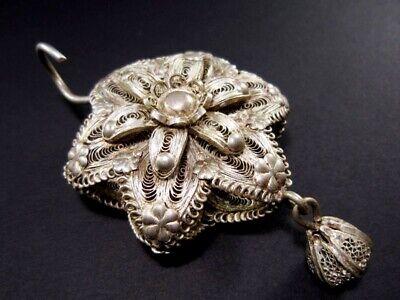 Vintage Silver Filigree Master Piece Large Medallion-Pendant!!! 5
