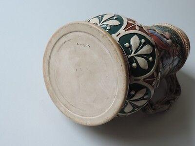Alter Keramik Krug Bierkrug Kanne Bierkanne Um Ca. 1900 8