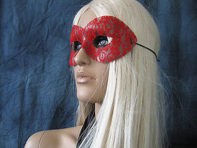 Maske LACE SPITZE ROT, Venezianische Domino, Cosplay, Shades of Grey 2