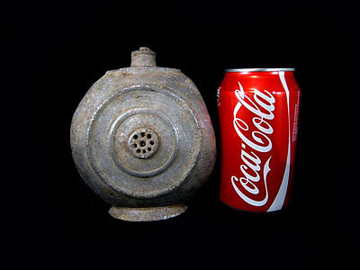 Extremely Rare Antique Pewter Flask-Bottle In As Found Condition+++