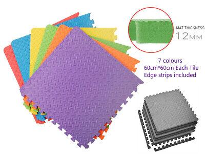 Extra Thick Gym Flooring Interlocking Floor Mats EVA Soft Foam Mat Yoga Tiles 2