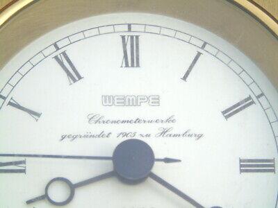 Wempe Chronometerwerke Gegrundet Hamburg Ships Boat Marine Quartz Chronometer 3