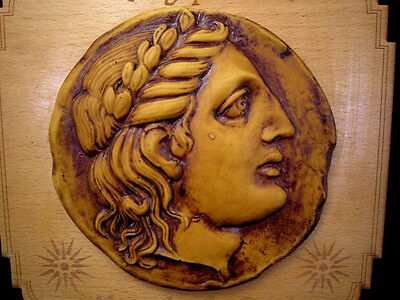 BEAUTIFUL ALEXANDER THE GREAT PORTRAIT TERRACOTTA RESEMBLING PLAQUE from MACEDON 3