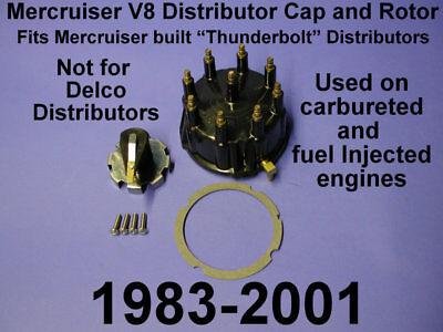 VORTEC SPARK PLUG WIRE DISTRIBUTOR FLAT CAP ROTOR TUNE UP MERCRUISER V8 GEN
