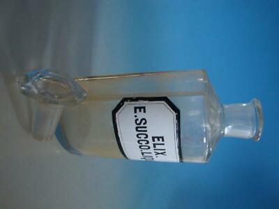 RS1119-026: Alte Apotheke Glas Flasche um 1900 Elix. E. Succo. Liquir 2
