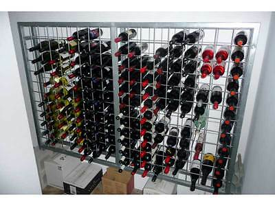 Galvanised Steel Metal Wine Storage Rack 216 Bottles 3