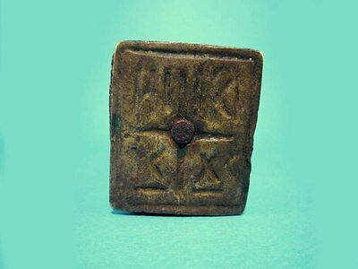 ORIGINAL RARE ANTIQUE 1800's. WOODEN CROSS BREAD PROSPHORA STAMP!!!' 6