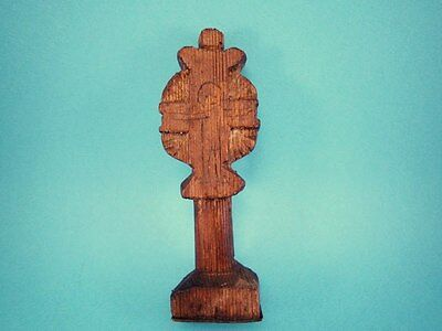 ORIGINAL RARE ANTIQUE 1800's. WOODEN CROSS BREAD PROSPHORA STAMP!!!' 3