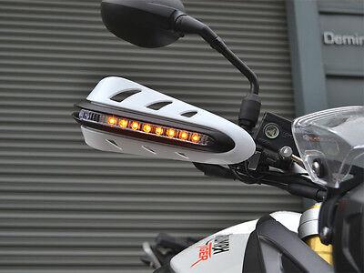 Weiß Motorrad Handprotektoren Mit LED Blinker für Honda NC700 NC750