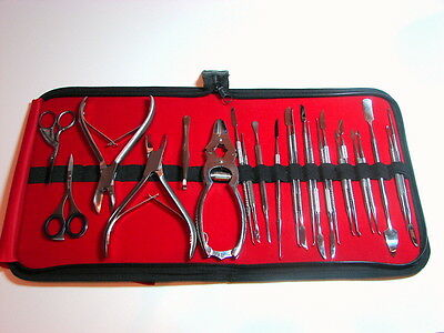 Chiropody Podiatry Nail Clippers Nippers Cutters Podiatry Instruments Kit 23 Pcs 5