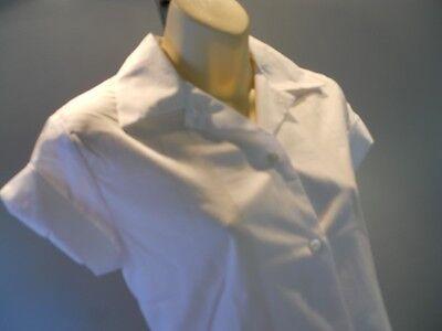 74c0cd8df5fd ... Nos Vintage 1960s White Blouse Uniform Shirt Waitress School Retro  Rockabilly 30 11