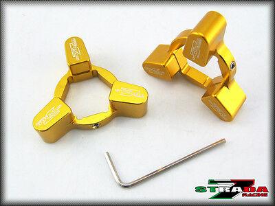 Strada 7 Racing 22mm CNC Front Fork Pre-load Adjusters Buell XB12 XB9 Gold