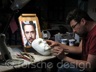 Robert Downey Jr Tony Stark Iron Man Life Mask Lifecast Hot Toys 7
