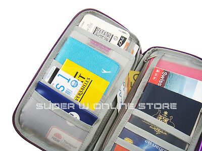 Travel Wallet Ticket Holder with RFID Blocking Covers for Passport Credit Cards 9