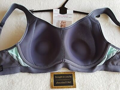M/&S Collection Underwired High Impact Light As Air Sports Bra BNWT SIZE  34C
