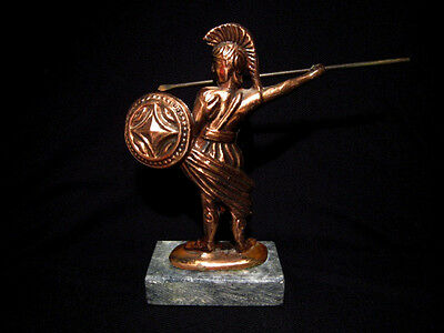 Attractive Vintage Copper Figurine, Greek Warrior!!! 3