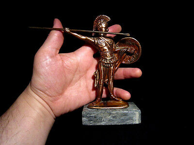 Attractive Vintage Copper Figurine, Greek Warrior!!! 6