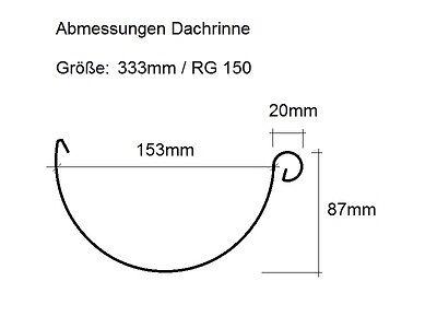 3,00m Dachrinne in verschiedenen Größen anthrazit RAL7016 Meister System ROBUST
