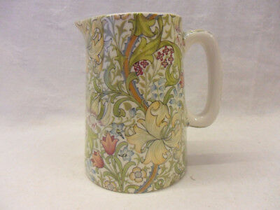 William Morris golden lilly design 1 pint jug by Heron Cross Pottery