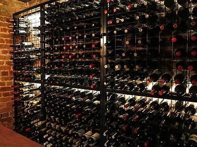 216 Bottle Steel Metal Wine Storage Rack Powder Coated Black over Galvanising 3