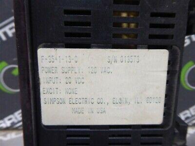 USED Simpson F-35-1-13-0 Digital Voltage Indicator 4