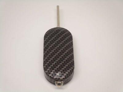 Guscio Cover Chiave Carbon Look Abarth 500 Scocca Telecomando Key Shell 4