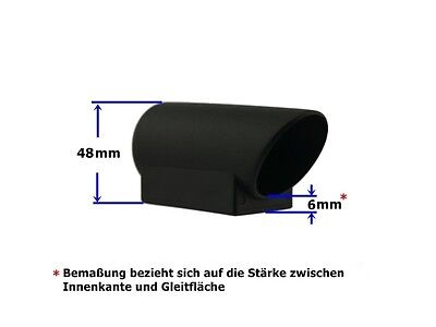 Winkelgleiter 40 x 20mm schwarz Bodengleiter Fuß Rohrkappe Ausleger Drehgestell