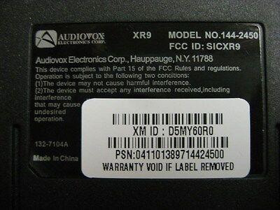 9 Of 12 Audiovox Xr9 Model 144 2450 Xm Satellite Radio Receiver