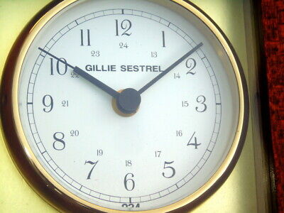 Gillie Sestrel Ships Boat Marine Quartz Chronometer Navigation Bridge Deck Watch 2