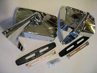 Square Chrome Fender Door Mirror Pair New Classic Car Right And Left Two For Sale Picclick