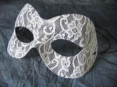 Maske LACE SPITZE WEIß, Venezianische Domino, Cosplay, Shades of Grey