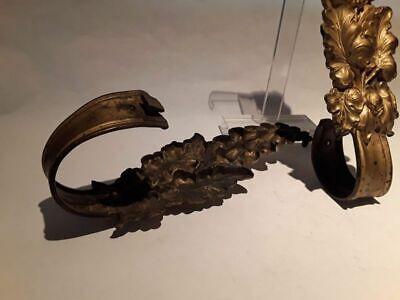 19thc Pair of Victorian Gilt bronze Drapery Tie backs 7