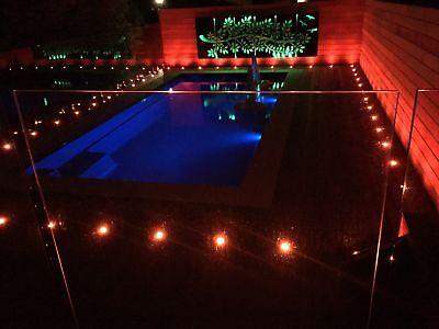 1-50er Set 45mm RGB LED Bodeneinbaustrahler Einbauleuchte Terrasse Außen Lampe