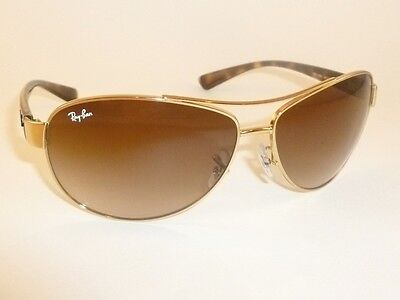 4fecbf38c4 ... New RAY BAN Sunglasses Gold Frame RB 3386 001 13 Gradient Brown Lenses  63mm 2