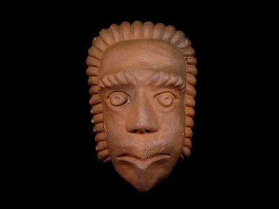 Beautiful Terracotta Post Mortem Mask Of A Roman Patrician, Replica!!! 2