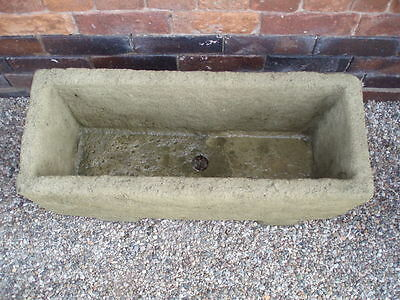 Stone Windsor Trough Planter includes Feet